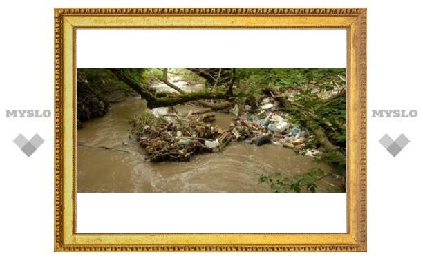 Тульские реки засоряет канализация