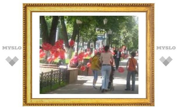 Тулу украсили воздушными шарами ко Дню молодежи