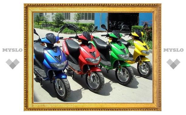 В Тульской области подростки угоняли скутеры