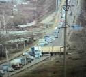 На Калужском шоссе сломавшийся грузовик перекрыл движение