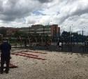 В Туле на набережной реки Упы устанавливают площадку для кроссфита