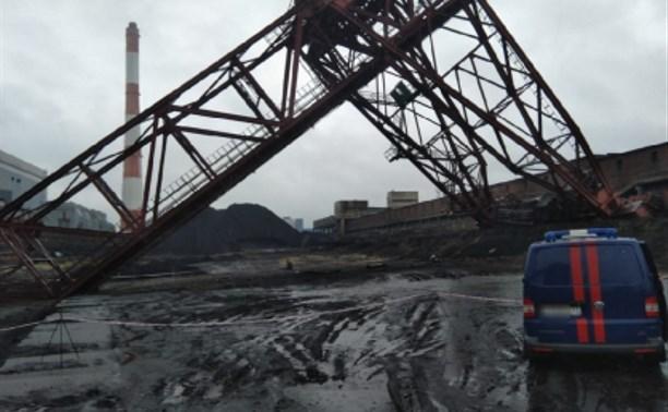 На Черепетской ГРЭС в Суворове рухнул кран: погиб рабочий