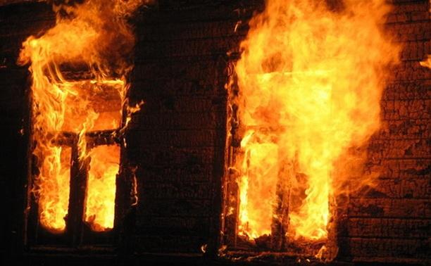 В Щекинском районе сгорел дом