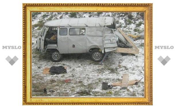 Под Тулой водитель УАЗа чудом выжил после «полета» в кювет