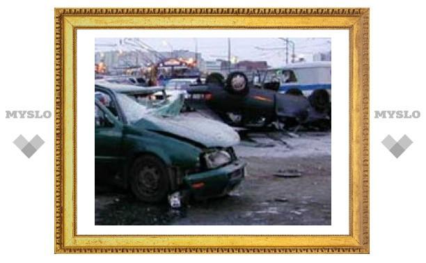 Под Тулой столкнулись 5 машин