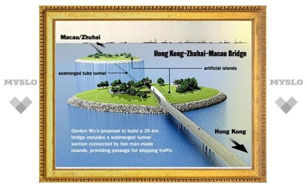 В Китае началось строительство самого длинного в мире моста