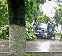 В Советске «бесправный» водитель на Toyota Corolla врезался в дерево