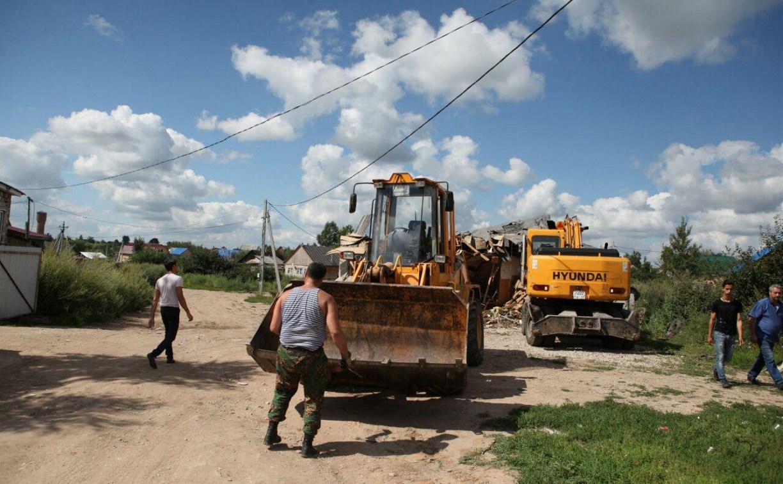 Снос незаконных построек в Плехановском таборе: фоторепортаж