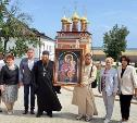 Игорь Крюков передал икону со Святой Горы Спасо-Преображенскому монастырю в Белеве