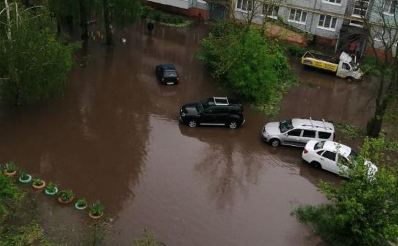 Потоп в Узловой: за сутки в городе выпала почти двухмесячная норма осадков