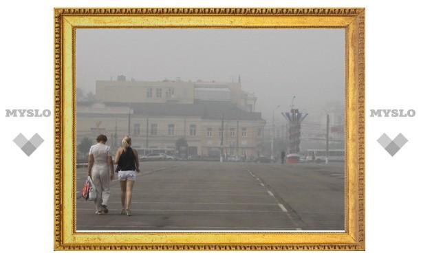 Плотный смог над Тулой содержит минимум угарного газа