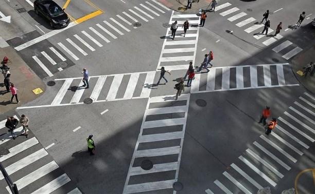 В России появятся диагональные пешеходные переходы