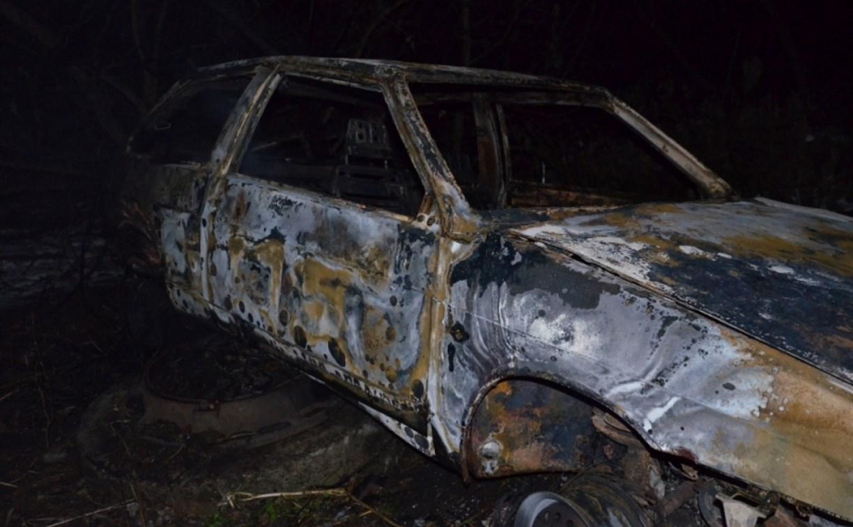 В Тульской области сгорел автомобиль
