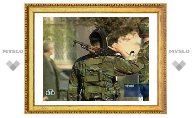 Чеченские милиционеры попали под обстрел