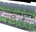 В Туле реконструируют сквер Героев на проспекте Ленина