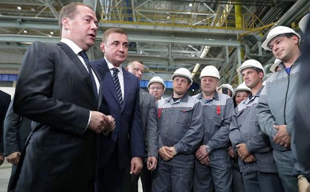 Дмитрий Медведев посетил предприятие «Тулачермет-Сталь»