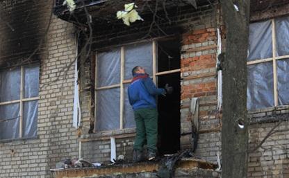 Жильцы взорвавшегося в Новомосковске дома благодарят полицию за спасение