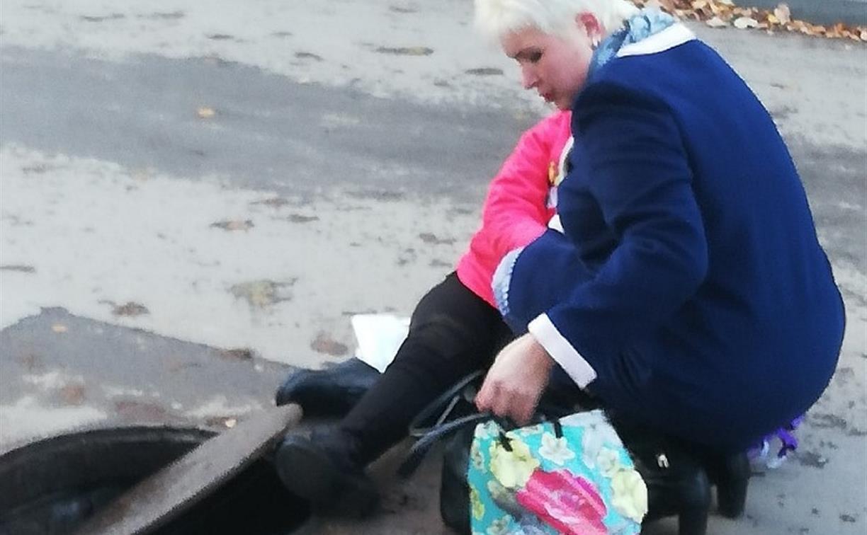 В Узловой ребенок упал в колодец