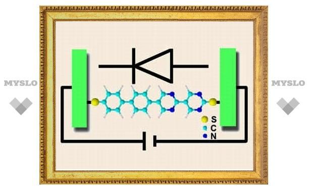 Физики создали диод из одной молекулы