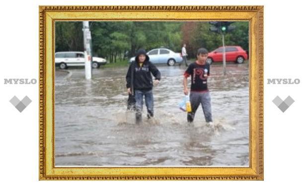Тулу затопил небывалый ливень