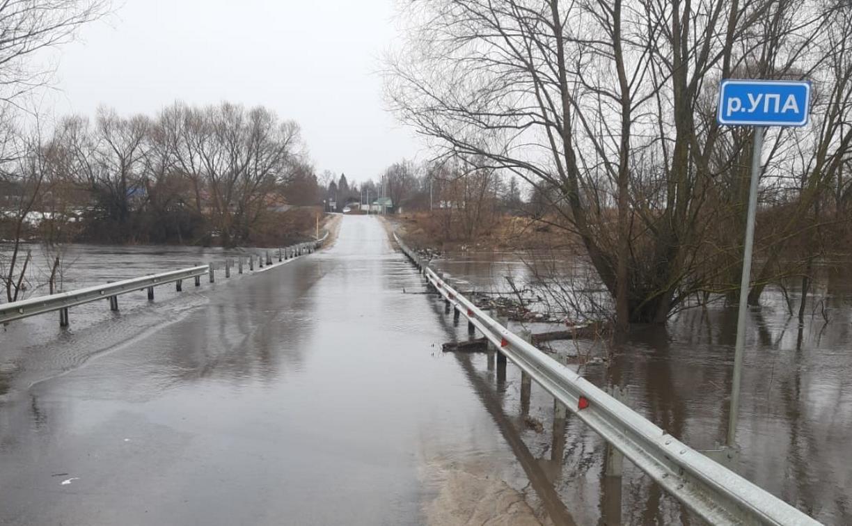 Три моста из-за паводка ушли под воду в Тульской области