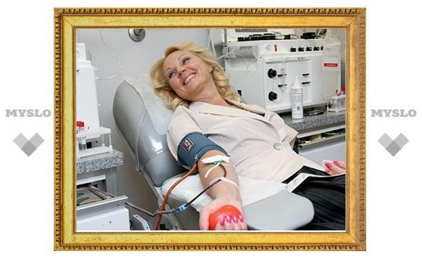 За неделю 555 чиновников сдали кровь