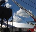 Пожарные работают  на месте ЧП в Плавске уже два часа