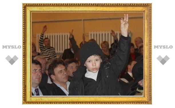 8-летний щекинец растрогал Владимира Груздева своим вопросом