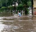 После ливня в Туле ребенок плавал в огромной луже