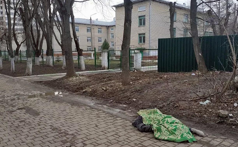 В Туле возле школы нашли труп