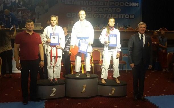 Тулячка стала второй на чемпионате России по каратэ среди студентов