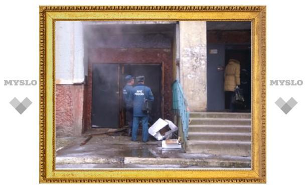 В Туле случился пожар в многоэтажке