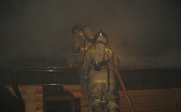 В Октябрьском поселке в Туле сгорела баня