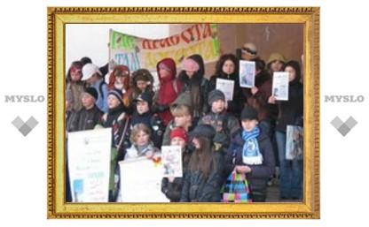 Ученики лицея №3 призвали туляков спасти рощу