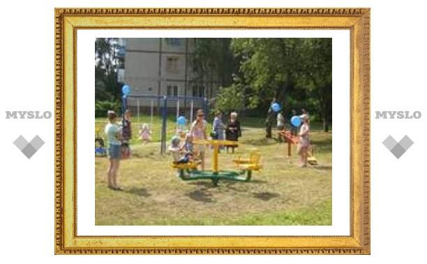В Туле появилась новая детская площадка