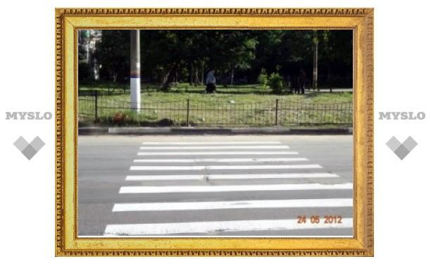 """Пешеходный переход в """"никуда"""" за 2 месяца так и не переделали"""