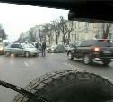 На пересечении пр. Ленина и ул. Пушкинской столкнулись четыре автомобиля