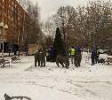 В Советском округе поставили елку и оленей