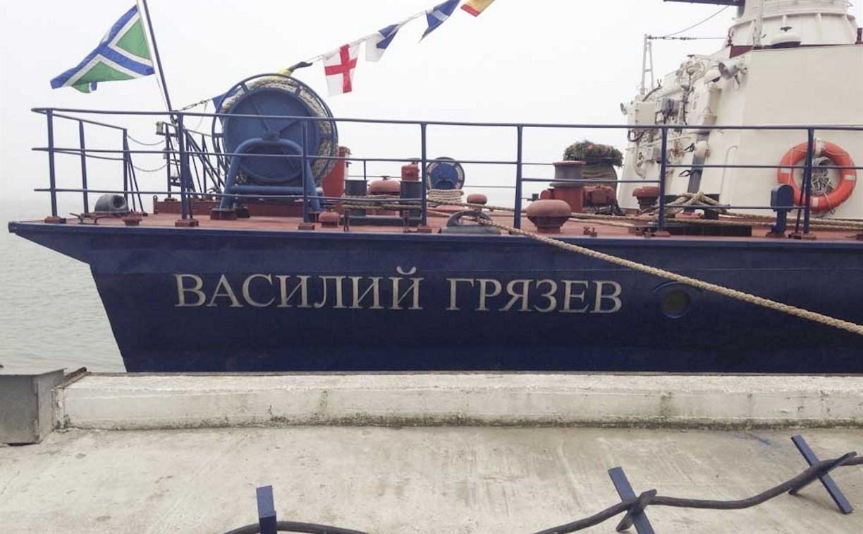Пограничный корабль «Василий Грязев» вышел в рейд
