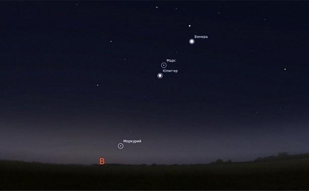 С 17 октября туляки смогут наблюдать малый парад планет