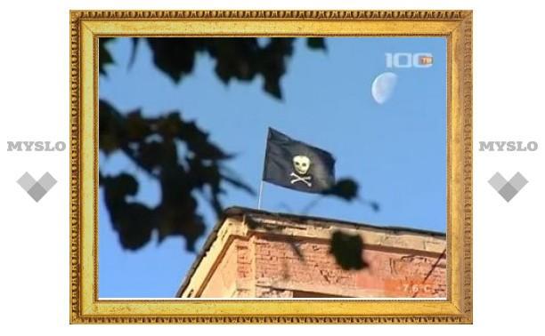 В Санкт-Петербурге вывесили второй пиратский флаг за два дня