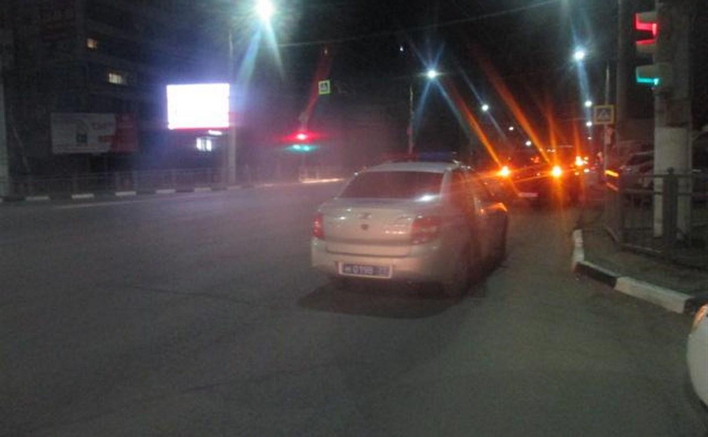 В тульском Заречье сбили женщину, переходившую дорогу на красный