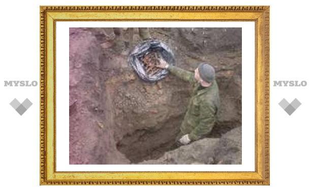 Под Тулой найдены красноармейцы