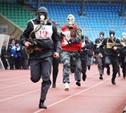 Тульские полицейские пробежали эстафету в противогазах