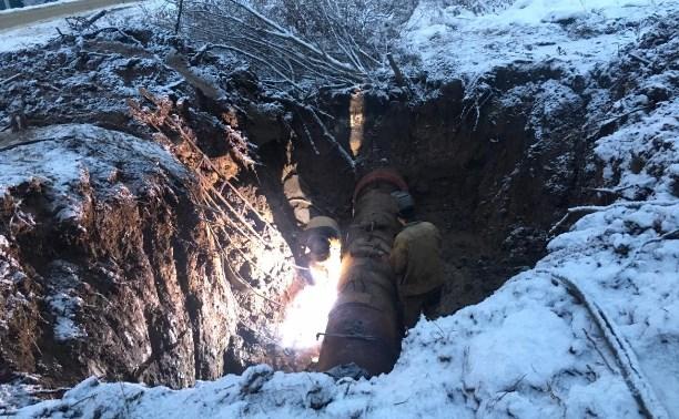 В Туле на Маслово-Песоченском водозаборе завершены работы по ликвидации порыва