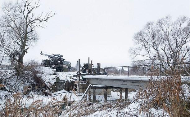 В трёх районах Тульской области военные строят новые мосты