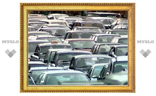 В центре Тулы - транспортный коллапс