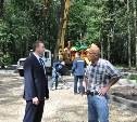 В Щёкино благоустраивают парк «Лесная поляна»
