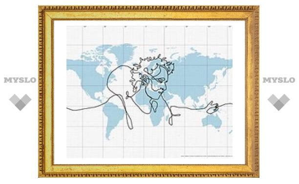 Cамый большой в мире автопортрет: кистью стала система GPS, а холстом - планета Земля