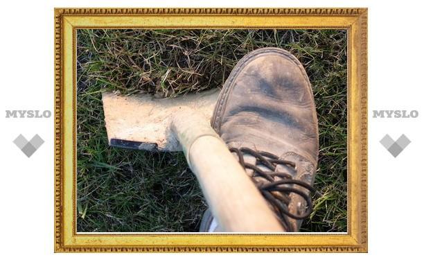 Убийца закопал труп у себя на огороде